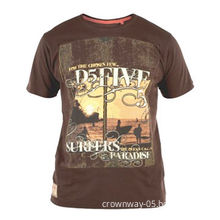 Men's Surf/Surfers Paradise Pigment Print T-shirt with Stylish Crew Neck