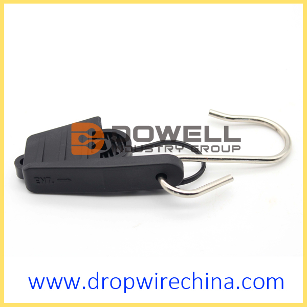 Outdoor FTTH drop wire clamp