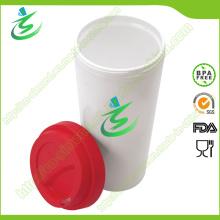 16 Oz Venta al por mayor Taza de café sin BPA con tapa