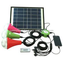 Solar Powered système d'accueil d'urgence (3 ampoules)