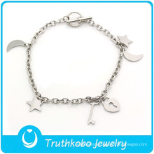 TKB-B0016 2015 fashion bracelet,Lovely silver stylish jewelry 316L stainless steel bracelet valentine day gift for girlfriend