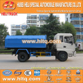 Dongfeng 4x2 10CBM hook arm garbage truck 190hp cheap price for sale In China