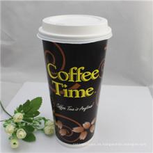 Tazas de café de papel desechables impresas de 4oz, 8oz, 12oz