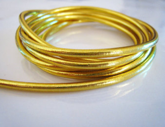Gold metallic elastic cord2