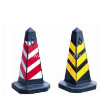 Road Safety rubber security white plastic traffic cone with reflective tape factory