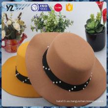 La mayoría del OEM popular calidad gasa mujeres sombrero negro precio razonable
