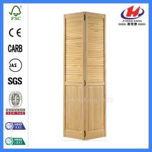 JHK-B06 Half Louver Pine Wardrobe Doors