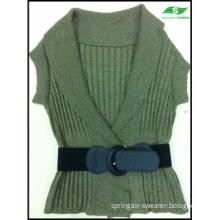 Women\'s Knitted Fashion Cardigan Sweater With Belt