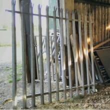 panneau de barrière de palissade galvanisé de sécurité 7 'de haut par 6' de large