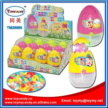 Easter Jump Chicken Egg Lighting Toy con dulces