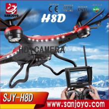 Original JJRC H8D 5.8G RC FPV One Key Return Quadcopter Headless Mode/One Key Return RTF Drone with 2.0MP Camera FPV Monitor LCD