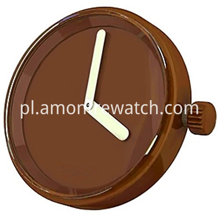 inchangable watch case brown
