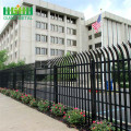 Galvanised and PVC green or black palisade fencing