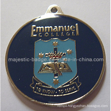 Customized Gold Plating Shield Medallion