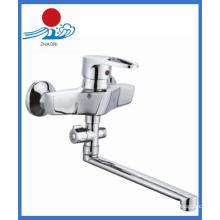 Messing Körper Wandmontierte Küche Spüle Mischbatterie Wasserhahn (ZR20903-B)