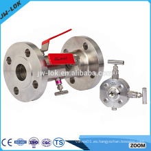 Válvula de purga de doble bloque de acero inoxidable