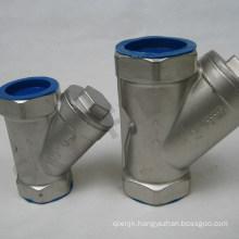 Stainless Steel Screwed Filter Y Type Strainer (DN15 DN20 DN25)