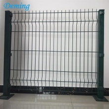 Goods high definition for Triangle 3D Fence Factory PVC Coated Wire Mesh Fence with Square Post supply to Turks and Caicos Islands Importers