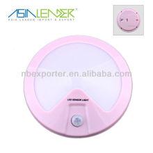 Pink round wireless motion LED sensor light