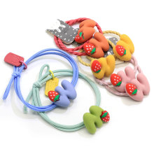 Girls Cute Cartoon Hair Band Ties Elastic Ponytail Holders Ropes Multi-color Cartoon Rubber Bands Baby Kids Hair Ring  Loop
