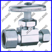 J7011 Chrome Plated Brass Angle Check Valve
