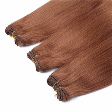 Honey brown color Russian remy human hair extension No MOQ