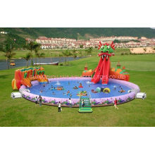 Amusement Park And Outdoor Playground Fantasy Dragon Pool, Inflatable Water Park