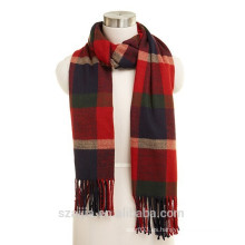 Bufanda de acrílico de pashmina de la bufanda de la tela escocesa de la tela escocesa del pashmina
