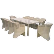 Juego de comedor - Silla y mesa al aire libre