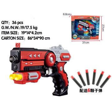 Pistola suave rápida del juguete de la bala de los colores de la bala 2 6PCS