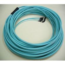 Mais barato 8cores / 12cores / 24cores Om3 Multi-Mode Fibra Optical MPO Patch Cord