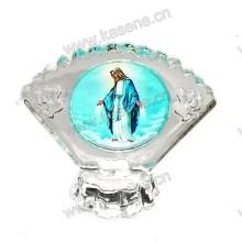 Религиозный кристалл 3D лазерная гравировка Подарки, католическая статуя с лампами