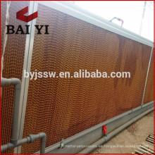 Almohadilla de refrigeración evaporativa en nido de abeja / Cortina húmeda para granja de aves de corral