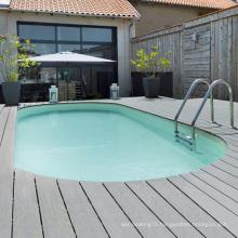 Plancher de stratifié de wpc de plate-forme imperméable de piscine