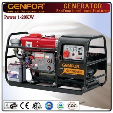 Niedriger Kraftstoffverbrauch Diesel Generator 12kVA Wtih Powerfull Generator