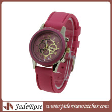 Nova moda multi cor pulseira de quartzo senhoras relógio de silicone