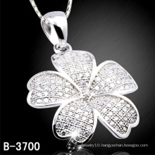 Fashion 925 Sterling Silver Flower Pendant with Cheap (B-3700)