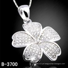 Moda 925 pingente de flor de prata esterlina com barato (b-3700)