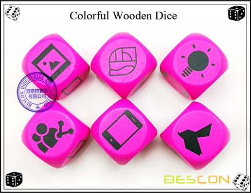 Colorful Wooden Dice-2