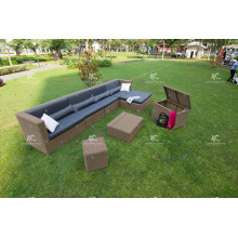 Impressive Design Sectional Patio Garden Sofa Set Wicker Furniture