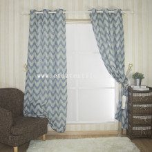 linen cheap pirce fabric curtain 6004-2