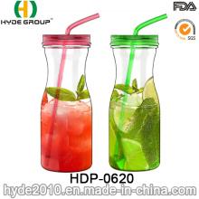 Botella de agua plástica del jugo de Tritan del BPA de la venta caliente colorida, botella de agua plástica de 900ml (HDP-0620)