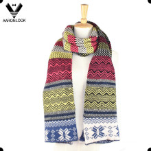 Echarpe multi-motif jacquard colorée à l'hiver de mode