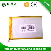 Bateria longa 3.7v 3000mah dos Gps do perseguidor dos Gps da bateria da bateria 3.7v do polímero de Li