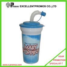 Wiederverwendbarer Plastikstrohbecher für Kinder (EP-C7168)