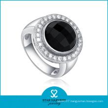 Du Bai Silver Agate Bezzel Setting Jewelry Ring (J-0005-R)