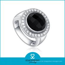 Du Bai Silber Achat Bezzel Einstellung Schmuck Ring (J-0005-R)
