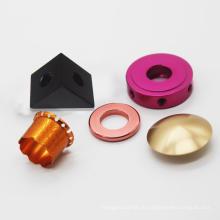 peças de usinagem cnc peças de torneamento de alumínio