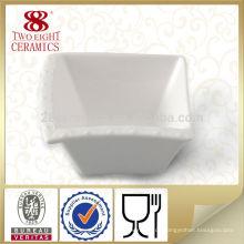 Heißer Verkauf der chinaware Soßenquadrat-weißen Schüssel für Restaurant