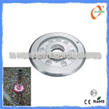 Lumière sous-marine DMX 9W IP68 de haute qualité, éclairage en piscine en acier inoxydable 316